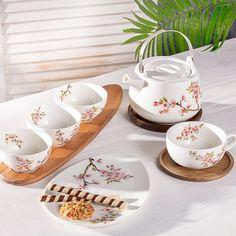 Nádherná novinka v našej ponuke - keramika Sakura.  #keramika#porcelan#kuchyna#jedalen#natur#vzory#orient Acacia, Sakura, Easy, Home Decor, Kitchen, Casket, Decoration Home, Cooking, Room Decor