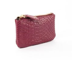Michelle Snake Print Coin Purse - Wine | Cuore and Pelle