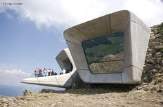 July the new Messner Mountain Museum Corones, designed by Zaha Hadid Architects on the top of the Kronplatz peak in the Alps, opens its doors Zaha Hadid Buildings, Zaha Hadid Architecture, Futuristic Architecture, Contemporary Architecture, Amazing Architecture, Landscape Architecture, Interior Architecture, Futuristic City, Famous Architects