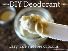 "Easy DIY Deodorant with Clay (changes made that worked for a friend: added about a tbsp of melted beeswax and did 3/4 shae butter 1/4 coconut oil because I wanted a firm stick I didn't need to use my fingers for . I used ""motivation"" blend eo by yl and added about a tsp of vit e)"
