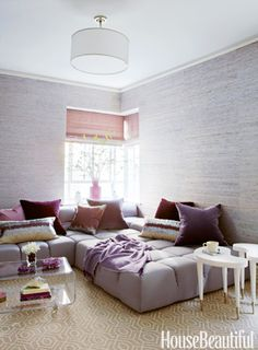 Love the sofa (Roset I think, or Roche Bobois) and the colors Beautiful Interiors, Beautiful Homes, House Beautiful, Beautiful Space, Interior Design Inspiration, Room Inspiration, Living Room Designs, Living Spaces, Living Rooms
