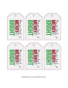 Free printable gift tags free printable free printable gift tags merry and bright gift idea with printable tag negle Image collections