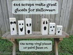 easy Halloween Projects ghosts and jack-o-lanterns