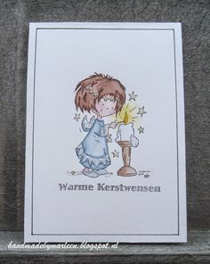 Card by Marleen with Don & Daisy stamp Daisy lighting a candle (DDS3338) by Marianne Design