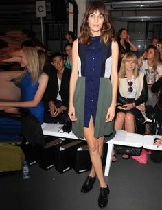Alexa Chung's Style File |  ELLE UK Alexa Chung attends the House of Holland Spring Summer 13 show, London Fashion Week.