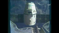 Expedition 50 astronauts Thomas Pesquet of ESA (European Space Agency) and Shane Kimbrough of NASA released the SpaceX Dragon cargo spacecraft from the International Space Station's robotic arm. https://blogs.nasa.gov/spacestation/2017/03/19/spacex-dragon-spacecraft-departs-space-station/
