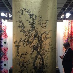 ICFF 2014 Highlights | Timorous Beasties Wallpaper, Gothic meets Chinoiserie with this large gold panel.