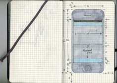 40 Brilliant Examples of Sketched UI Wireframes and Mock-Ups Game Interface, Ui Elements, Iphone 5 Cases, Design Strategy, Wireframe, Copic Markers, Moleskine, Mockup, Stencils