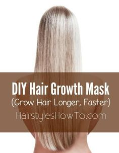 Keep your hair growing longer, faster this summer using this simple mask recipe. First, you'll want to coat your hair with a small amount of coconut oil. This locks in moisture to hydrate your hair. A