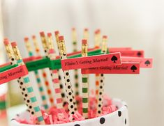 This Kate Spade Bridal Shower on the Inspired by This wedding blog today is full of hot pink, flamingos, and the cutest spade details!