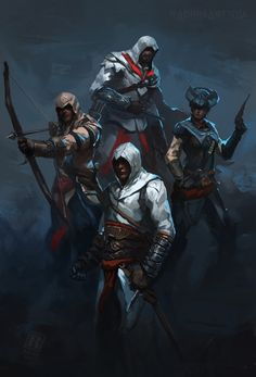 Assassin's Creed Commission by on DeviantArt Assassins Creed Art, Character Art, Rogues, Art