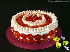 Désir printanier aux fraises et fromage blanc