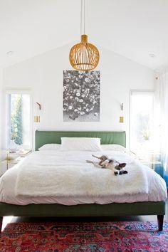 bohemian bedroom // light fixture