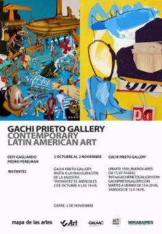 "VVArt Servicios Corporativos, PATROCINANTE de la exposición ""Instantes""   2013 – BS.AS. ARG.   Lugar: Gachi Prieto Gallery Contemporary Latin American Art"
