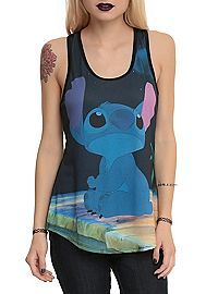 HOTTOPIC.COM - Disney Lilo & Stitch Sad Sublimation Girls Tank Top