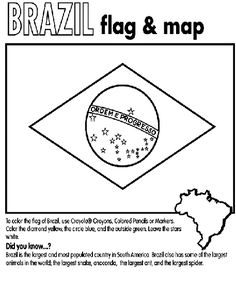 Sponsor a child in Brazil? This coloring page will help you learn about their country flag.