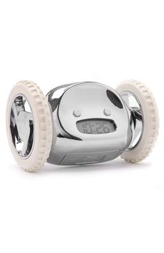 The alarm clock for the morning impaired... it runs away and hides when it goes off!!!! $44, Nordstrom...PERFECT for caleb!!!