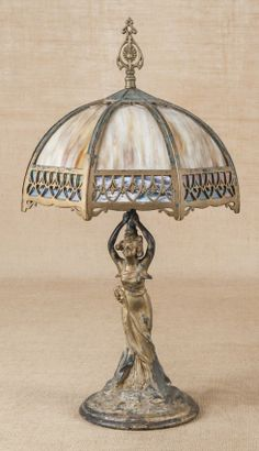 Tulip Lamp Vintage 18 Globe With Lily Pad Bronze Base 20