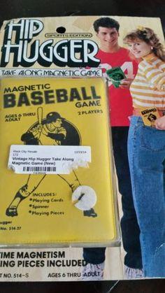 Vintage Hip Hugger Magnetic Game Baseball   eBay