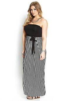 Mod Stripes Maxi Dress | FOREVER21 PLUS - 2000107570....   This dress is so comfortable and fits great for large bust ladies too.