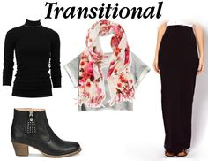 sleek black pencil skirt, fly leather boots plus color