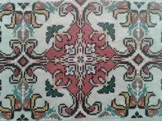 Gallery.ru / Фото #105 - ttt - ergoxeiro Cross Stitch Borders, Counted Cross Stitch Patterns, Beaded Embroidery, Embroidery Designs, Needlepoint, Needlework, Bohemian Rug, Mandala, Carpet