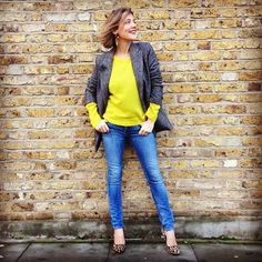 Wearing it today's Laura Fantacci in yellow and @Somayeh Mohamady Karimi Jeans