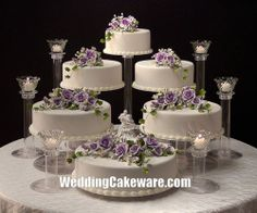 6 TIER WEDDING CAKE STAND STANDS / 6 TIER CANDLE STAND