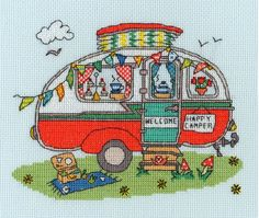 Sew Dinky Caravan (counted cross stitch kit)
