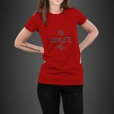 You Complete Me  Unisex Short Sleeve Jersey T-Shirt
