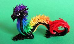 Rainbow Oriental Dragon - Auction by DragonsAndBeasties.deviantart.com on @deviantART