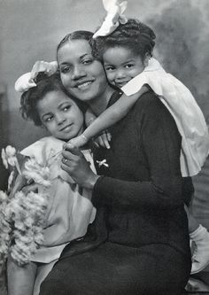 A MOTHER'S LOVE  Portrait of African American mother with children. #black_history #african_american