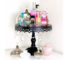 Makeup storage ideas cake stand