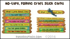 No-Tape, Folding Craft Stick Cards -  View it and Do it Craft! #10