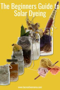 The Beginners Guide to Solar Dyeing - La creative mama Fabric Flower Brooch, Fabric Flowers, Natural Dye Fabric, Natural Dyeing, Textiles, Textile Dyeing, Dyeing Yarn, Fabric Dyeing Techniques, Fabric Scraps
