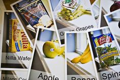 Make laminated cards with pictures of items to buy at the grocery store along with the name of the item. Have the kids find these groceries while at the store. Keeps the kids manageable at the store and teaches them to read.