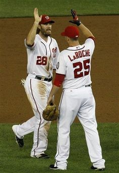April 18th - WSH vs HOU - Adam LaRoche scores the tie-breaking run in the 8th inning. Nationals take the W. Final Score: 3-2. Nationals are 10-3 this season, currently first in the NL East.