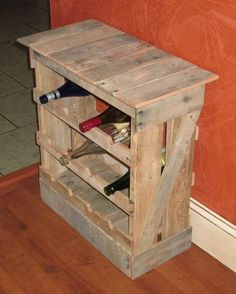 Pallet Wine Rack Directions | Pallet Wood 12 Bottle Wine Rack Floor Or Counter Top Rustic Reclaimed ..