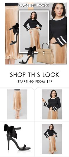 Black Flare Top by paculi on Polyvore featuring Miss Selfridge, ruffles and ownthelooks