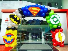 Superhero Balloon Arch - Visit to grab an amazing super hero shirt now on sale! Superhero Birthday Party, 4th Birthday Parties, Birthday Party Decorations, Boy Birthday, Superhero Party Decorations, Avengers Birthday Parties, Avenger Party, Superhero Balloons, Justice League Party