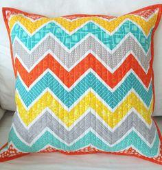 Pillow Talk {Swap} 10 Summer Chevron Pillow | Flickr - Photo Sharing!