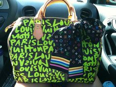 Louis Vuitton....I could just shout out the name....in case you didn't get it.  But I do like the lime green.