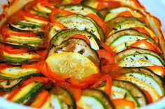 Ratatouille's ratatouille (like from the movie)! Looks yummy with all of those summer veggies!!