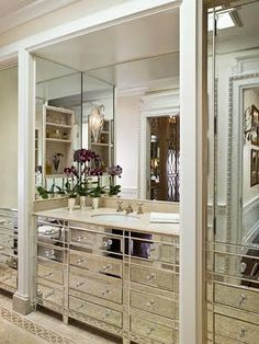 i want a mirrored walk in closet