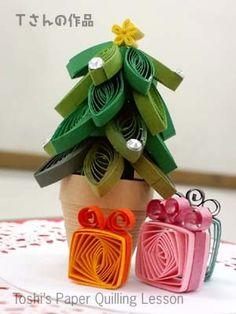 """クイリング講座も""""ビオラ""""です の画像 Toshi's Paper Quilling ♪ Quilling Christmas, Christmas Crafts, Christmas Tree, Quilling Designs, Paper Quilling, Paper Art, Paper Crafts, Diy Crafts, Quiling Paper"""