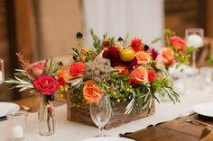 Autumnal Planter Box Centerpieces