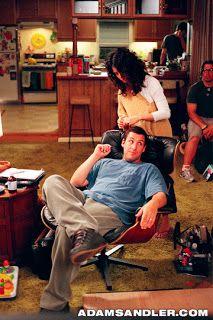 Click - Adamn Sandler on an Eames Lounge Chair
