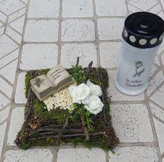 Pflanzschalen - Grabgesteck, Grabaufleger, Kissen, Trauerfloristik - ein Designerstück von Die-Deko-Idee bei DaWanda