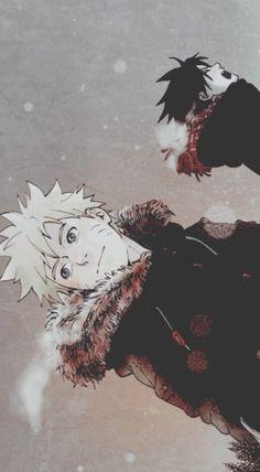 Sasuke, hates the cold. He will endure it though, because he loves Naruto enough to endure any torture or punishment. As long as Naruto dreams it, Sasuke will build it for him. Sasuke Sakura, Naruto And Sasuke, Naruto Uzumaki, Anime Naruto, Hinata, Naruto Fan Art, Kakashi, Boruto, Otaku Anime