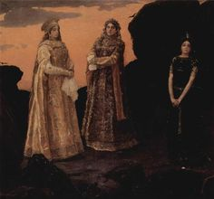 Three Tsarevnas of the Underground Kingdom - Viktor Vasnetsov